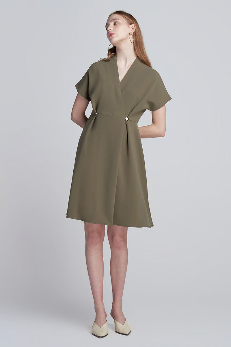 HEATHER DRESS OLIVE