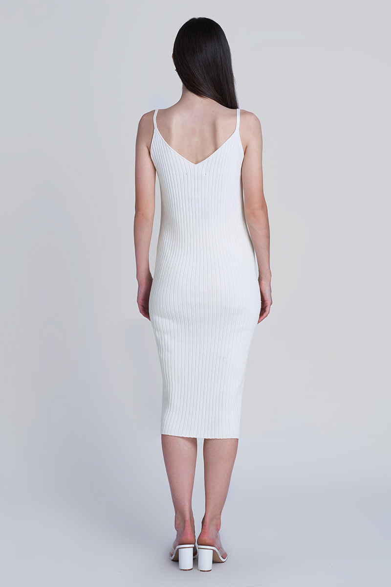 HAYAMI KNIT DRESS WHITE