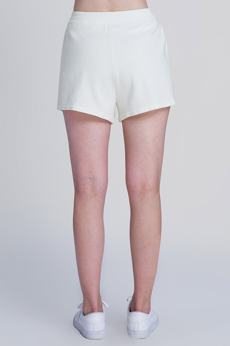 TOMO KNIT SHORT PANTS WHITE