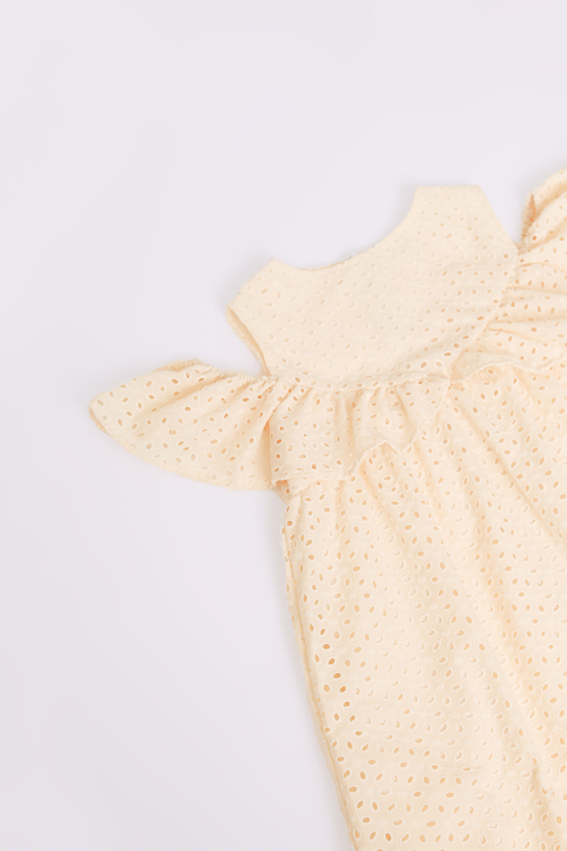 KIDS CALVA DRESS CREME
