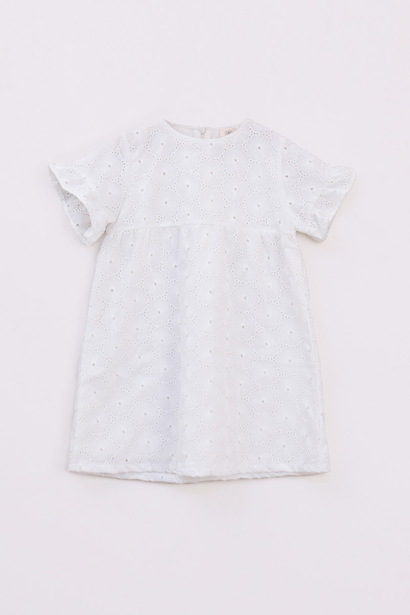 KIDS LEWIS DRESS WHITE