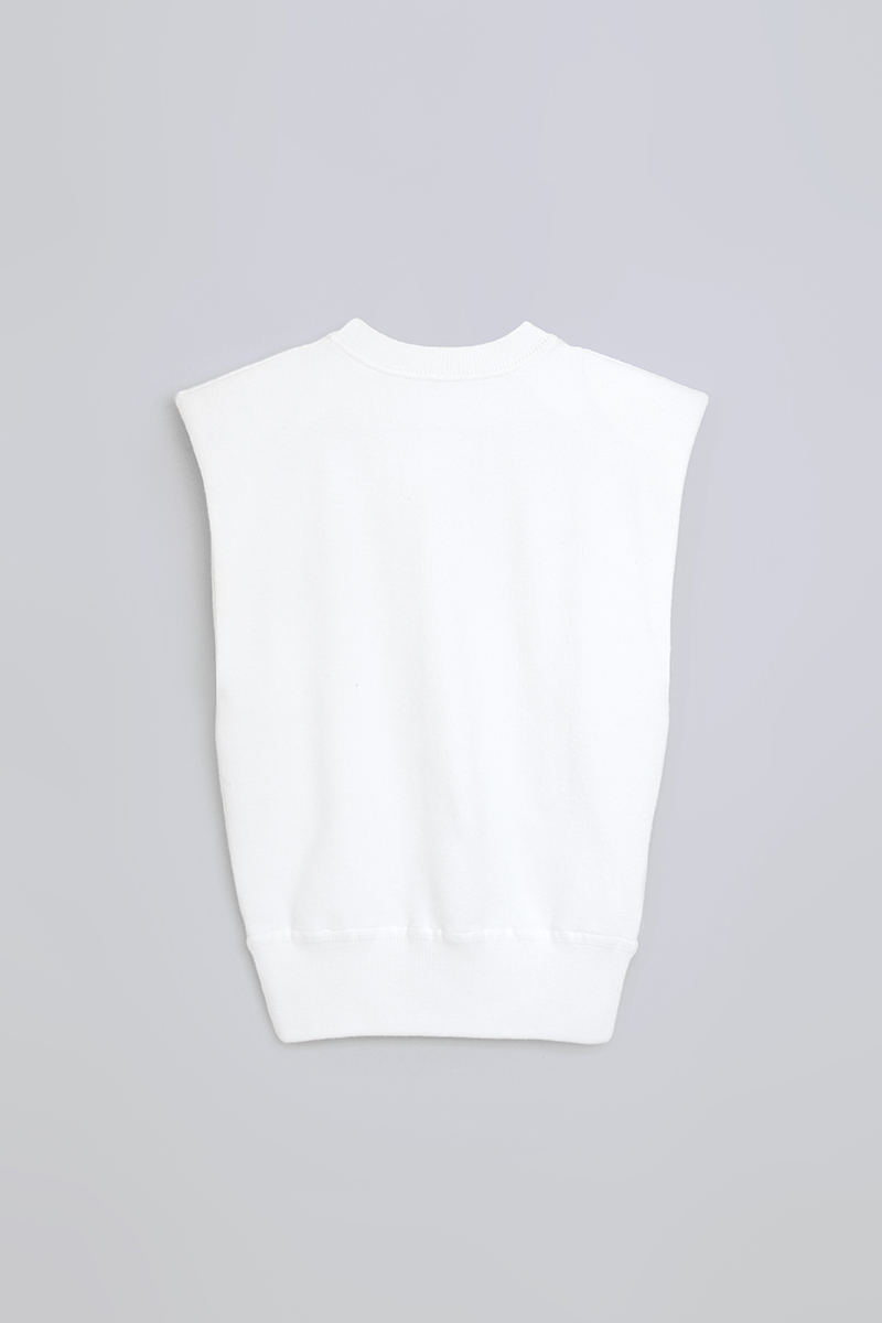 CASEY KNIT SHOULDER TOP WHITE